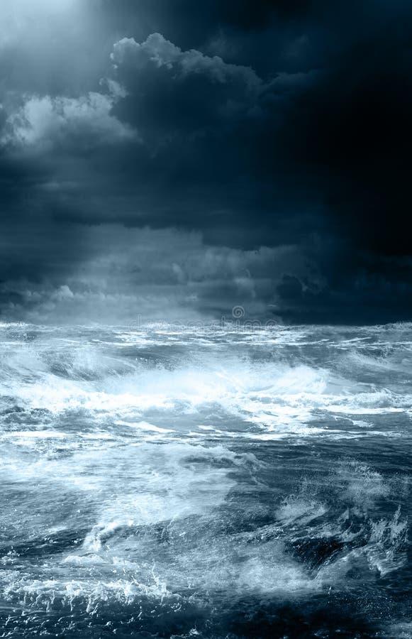 海洋风暴 免版税图库摄影