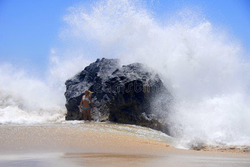 海洋飞溅 免版税库存图片