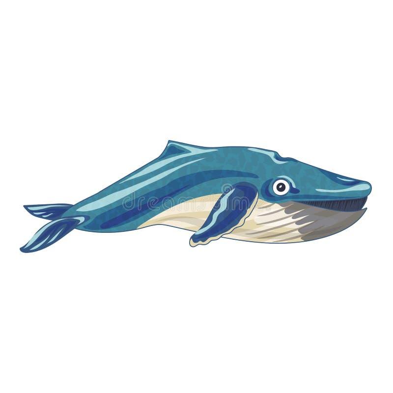 海洋鲸鱼象,动画片样式 向量例证