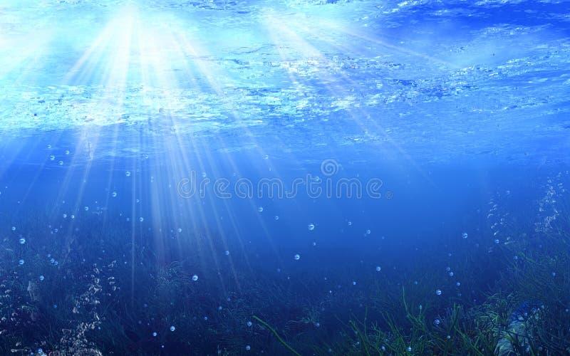 海洋 皇族释放例证