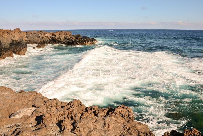 海洋Coast& 39;s视图 库存图片