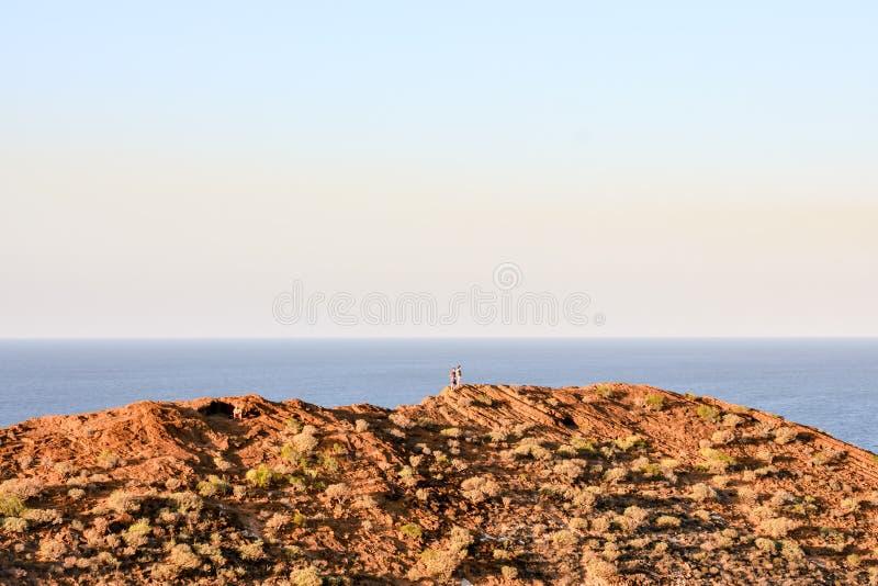海洋Coast& 39;s视图 库存照片