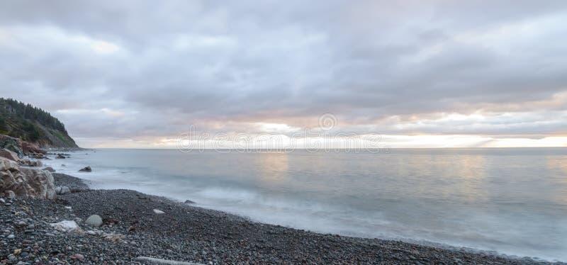 海浪全景-长的曝光 免版税库存图片