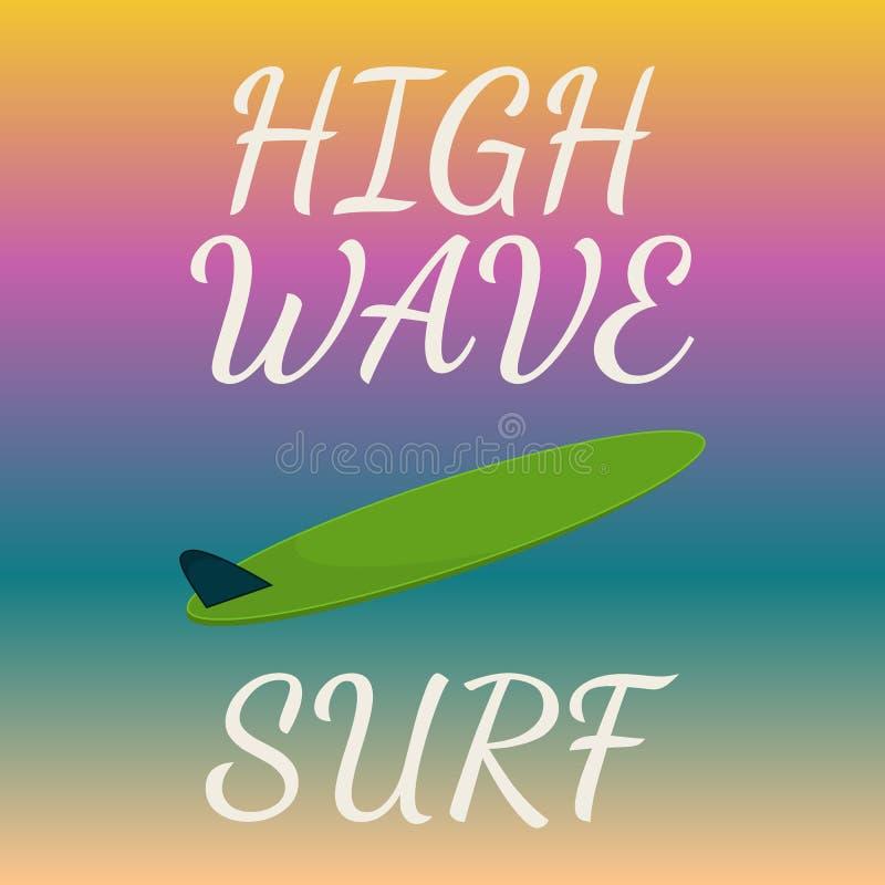 海浪印刷术, T恤杉图表 也corel凹道例证向量 库存例证