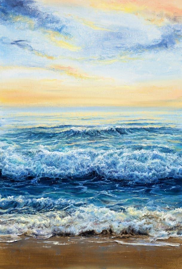 海浪和天空 图库摄影