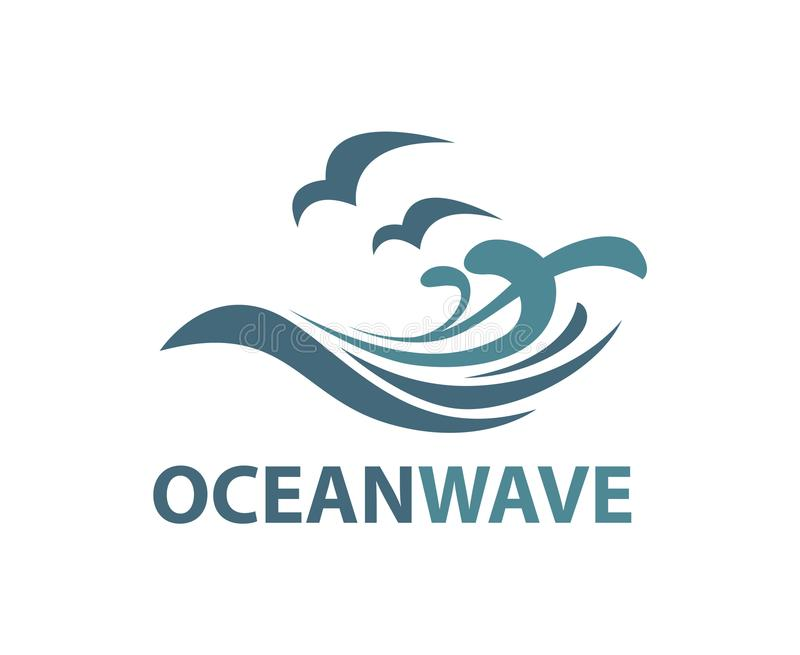 海浪商标 库存例证