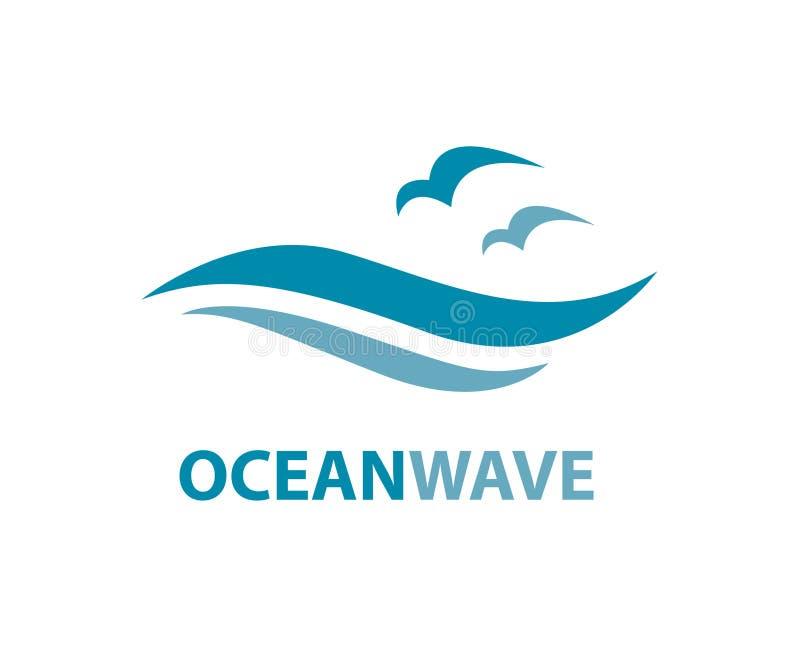 海浪商标 向量例证