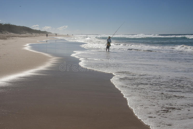 海浪渔夫 库存图片