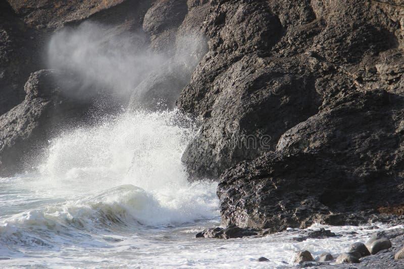 海浪的声音 免版税库存照片