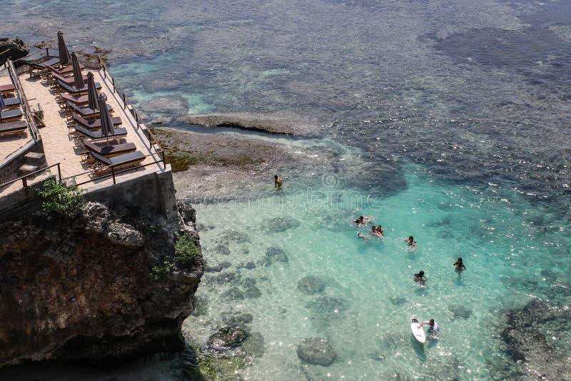 海浪的风景看法在Uluwatu 库存图片