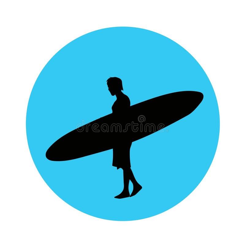 海浪骑马人传染媒介象或标志 皇族释放例证