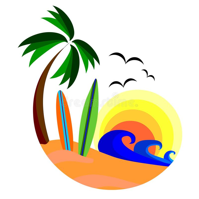 海浪 向量例证