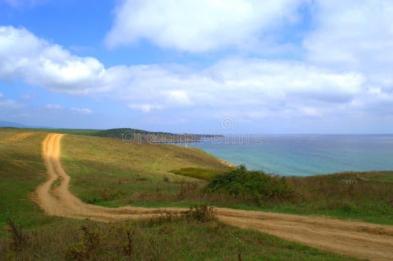 黑海海岸, Sinemorets保加利亚 库存图片