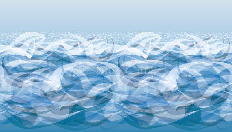 海海浪横幅,传染媒介 皇族释放例证