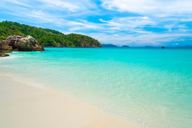 海海滩蓝天沙子太阳白天 免版税图库摄影