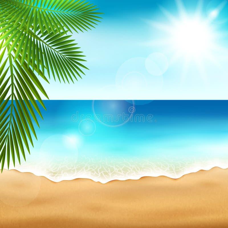 海海滩 向量例证