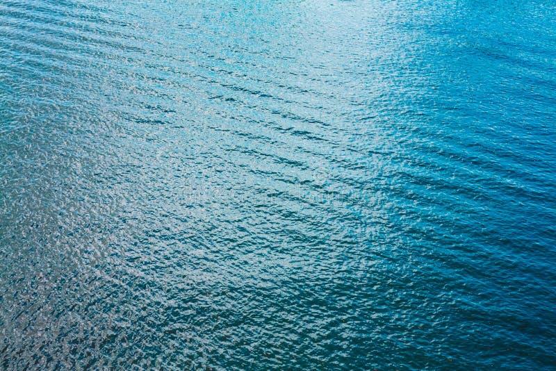 海海洋River湖蓝色波纹水面 库存照片