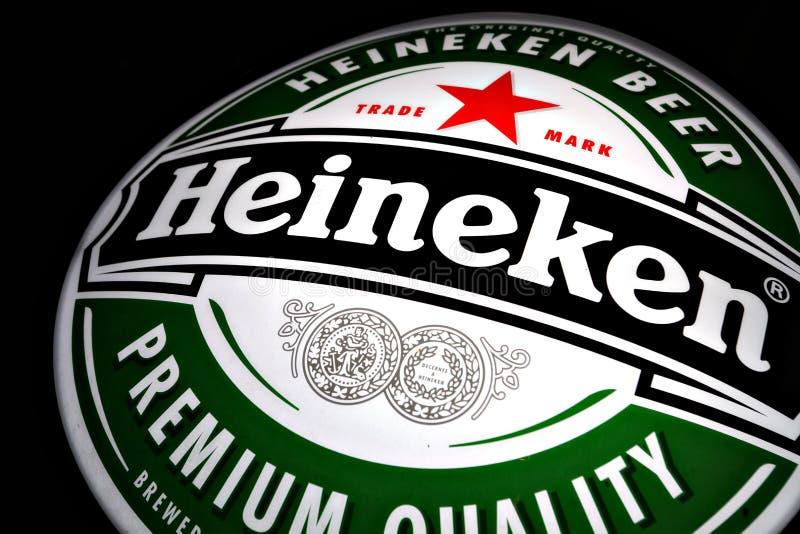 海涅肯啤酒广告 库存图片
