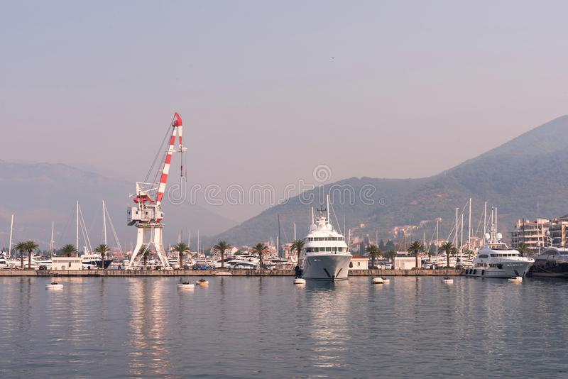 海港口在黑山 免版税图库摄影