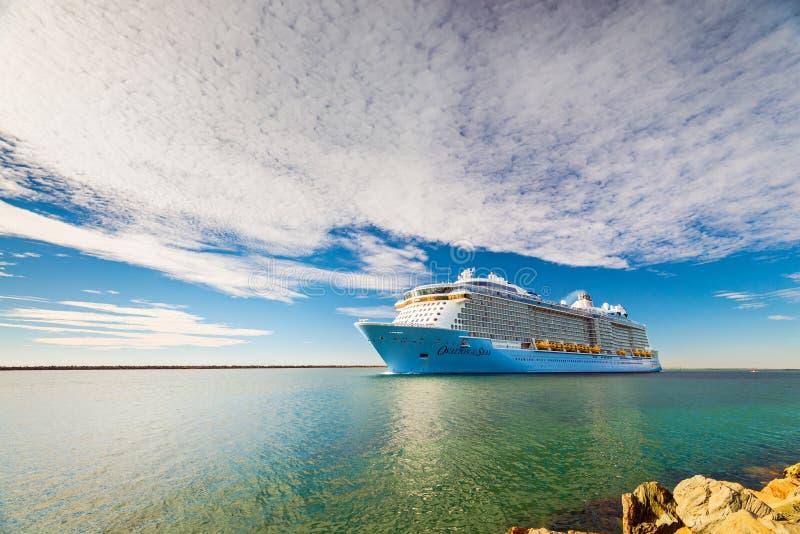 海游轮的MS热烈的欢迎 免版税库存照片