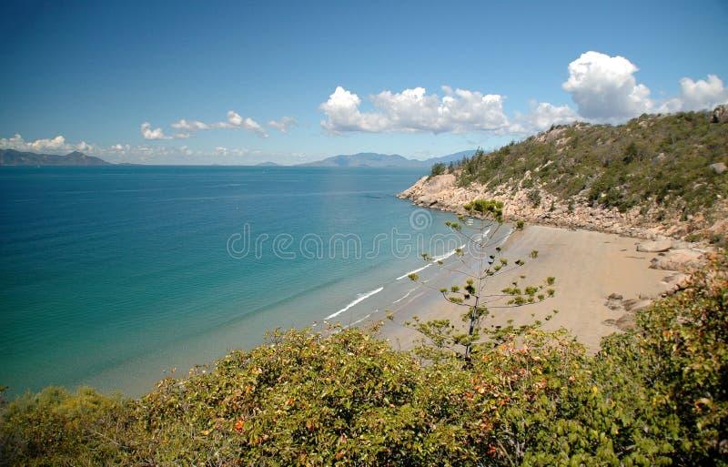 海湾俯视 图库摄影
