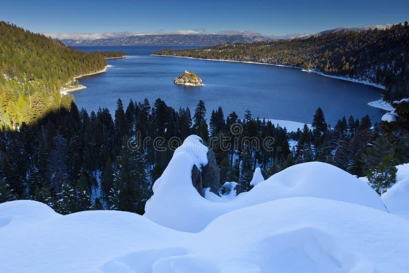 海湾加利福尼亚绿宝石Tahoe湖 免版税库存图片