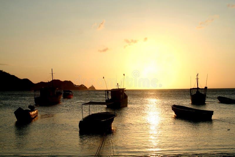 海湾加勒比哥伦比亚海运taganga 免版税图库摄影