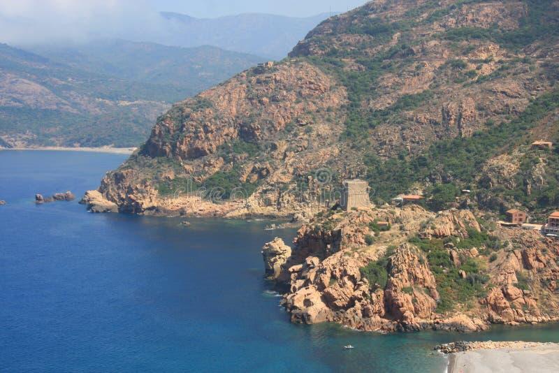 海湾可西嘉岛法国波尔图 库存照片