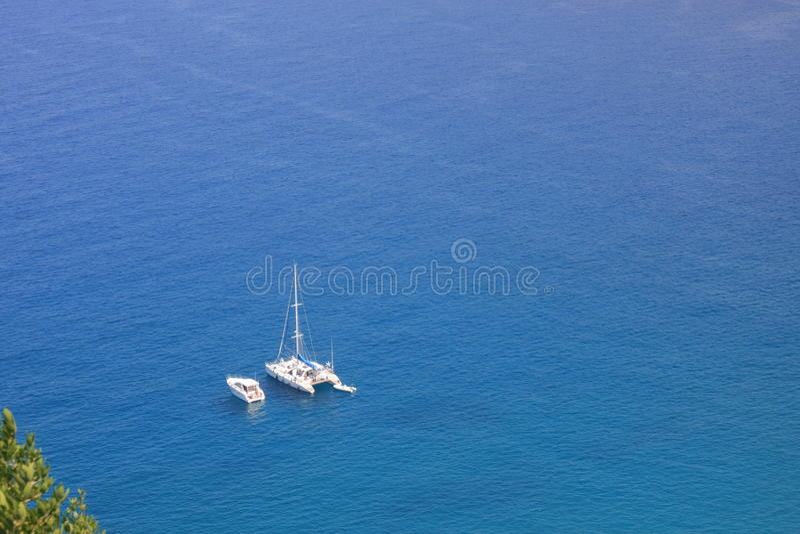 海湾可西嘉岛法国航行 库存图片