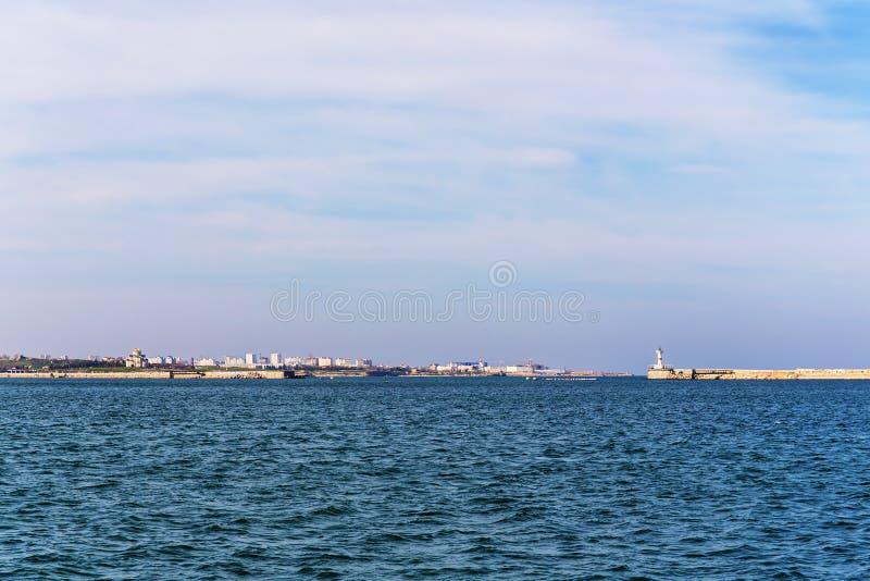海湾在塞瓦斯托波尔 图库摄影