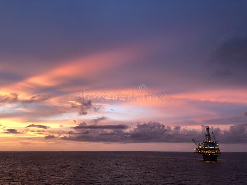 海湾墨西哥日落 免版税库存图片