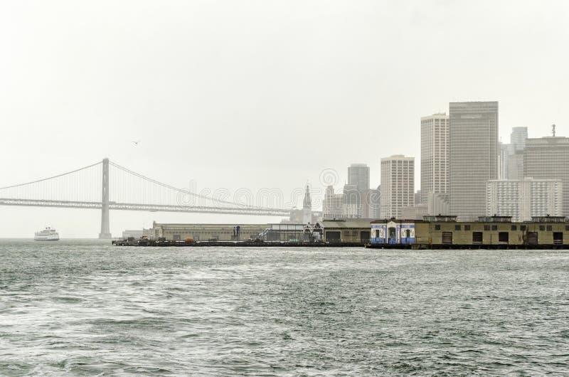 海湾桥梁加利福尼亚弗朗西斯科・圣 免版税库存图片