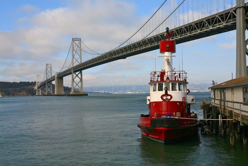 海湾桥梁旧金山美国 库存图片