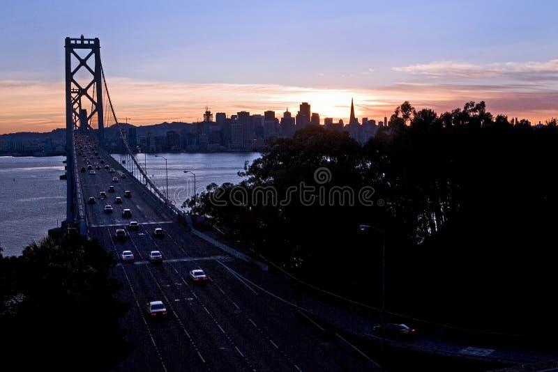 海湾桥梁-金银岛,旧金山 免版税库存图片