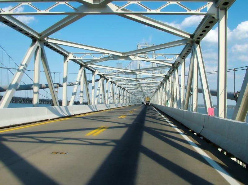 海湾桥梁cheasapeake 库存图片