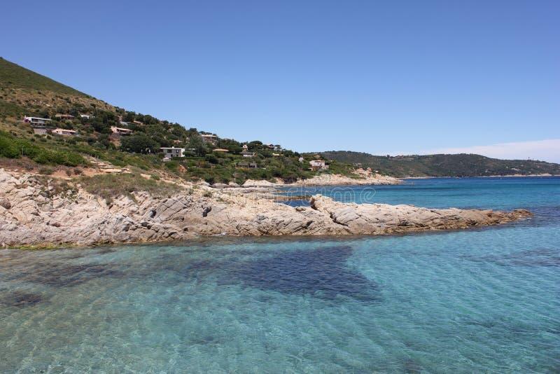 海湾法国海滨圣徒tropez 免版税库存照片