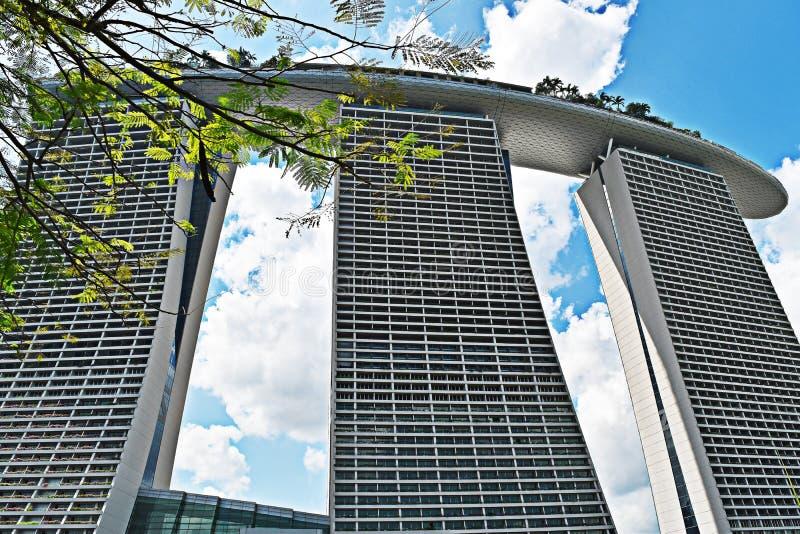 海湾海滨广场铺沙新加坡 聚会所 免版税图库摄影