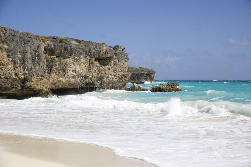 海湾海滩底视图 免版税图库摄影
