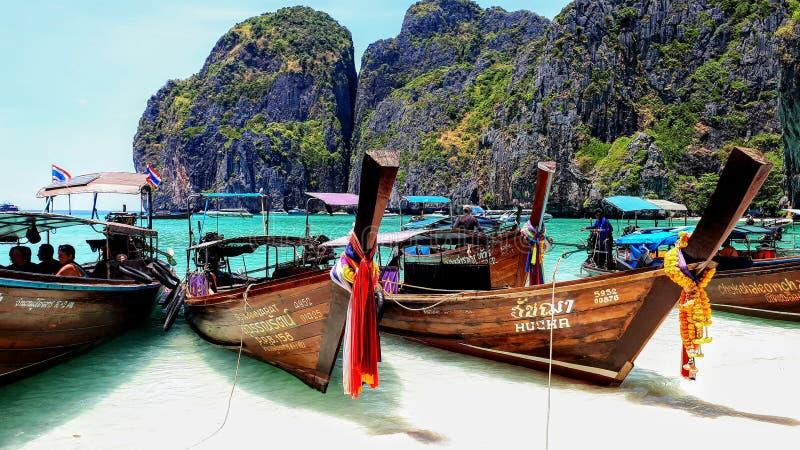 海湾海滩玛雅人泰国 免版税库存图片