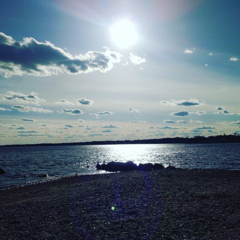 海湾海滩 免版税库存图片