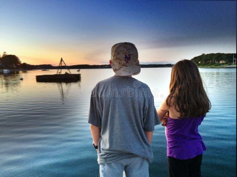 海湾的船坞 免版税图库摄影