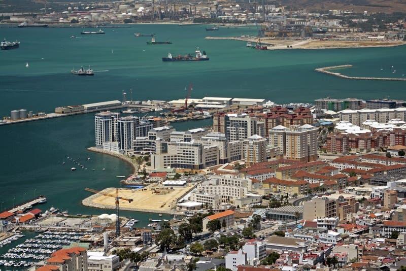 海湾直布罗陀港口业务量 免版税库存照片