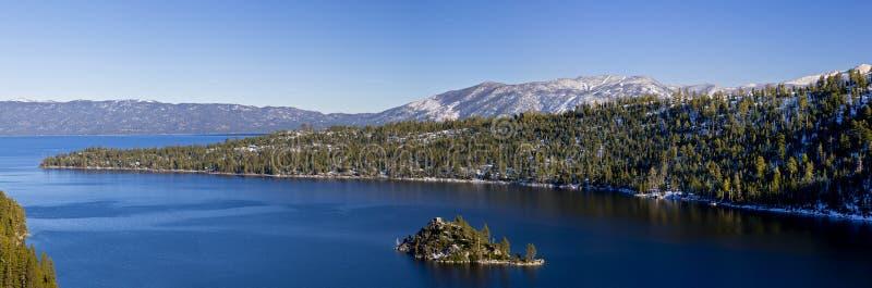 海湾绿宝石Tahoe湖 库存照片