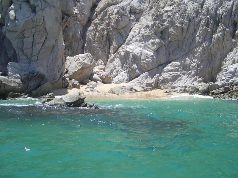 海湾绿浪 库存图片