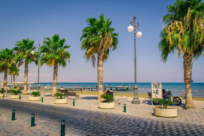 海湾街道在塞浦路斯 库存图片