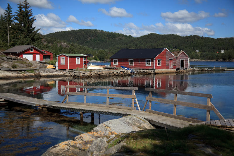 海湾beautifull小船挪威 库存照片