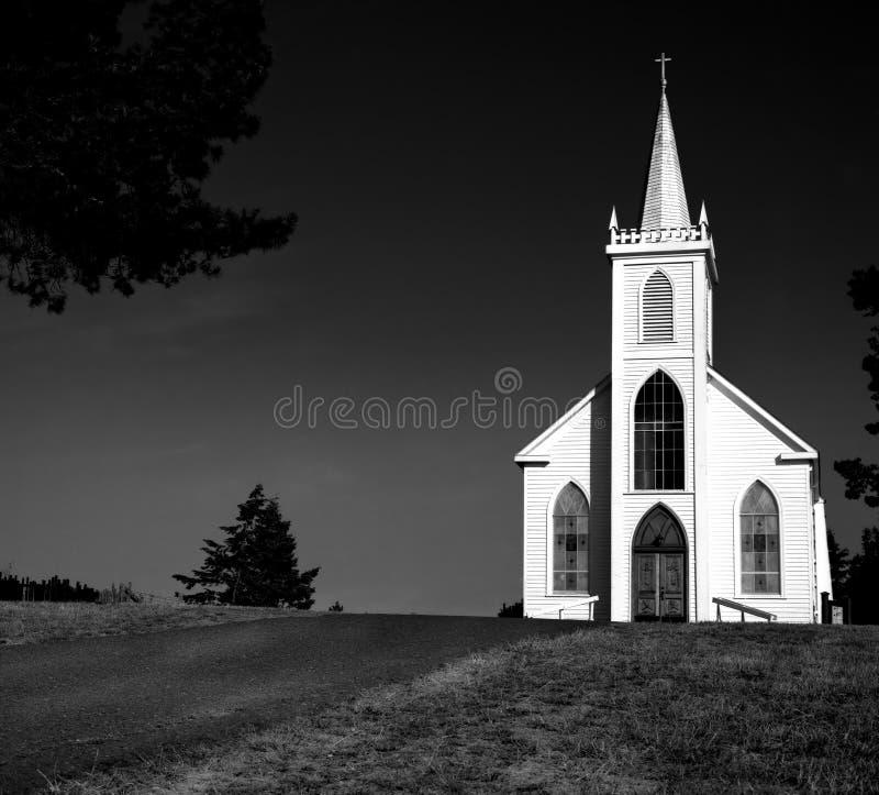 海湾bodega教会 免版税图库摄影