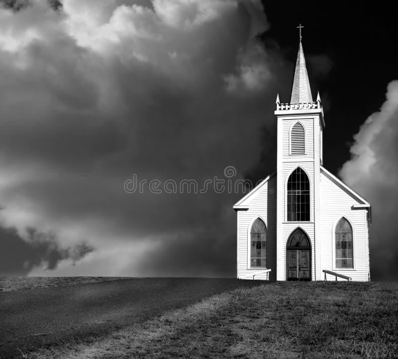 海湾bodega教会 库存照片