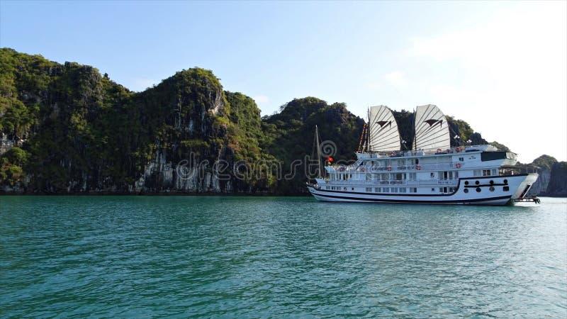 海湾halong越南 多数普遍的地方在越南 免版税库存图片