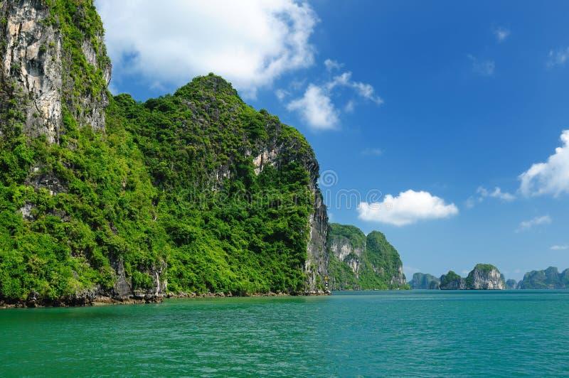 海湾halong越南 免版税库存图片